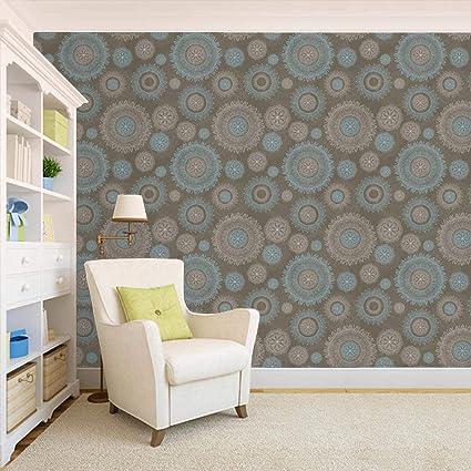 100yellow Floral Print Peel Stick Decor Wallpaper Design