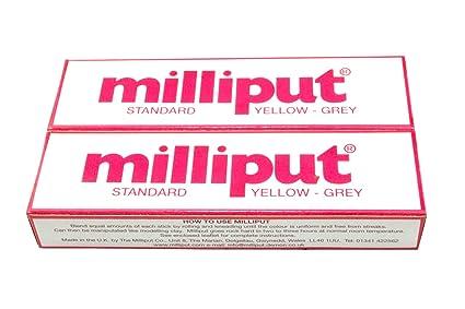 2 x estándar gris Milliput Masilla epoxi. Barco de modelaje de carrocerías