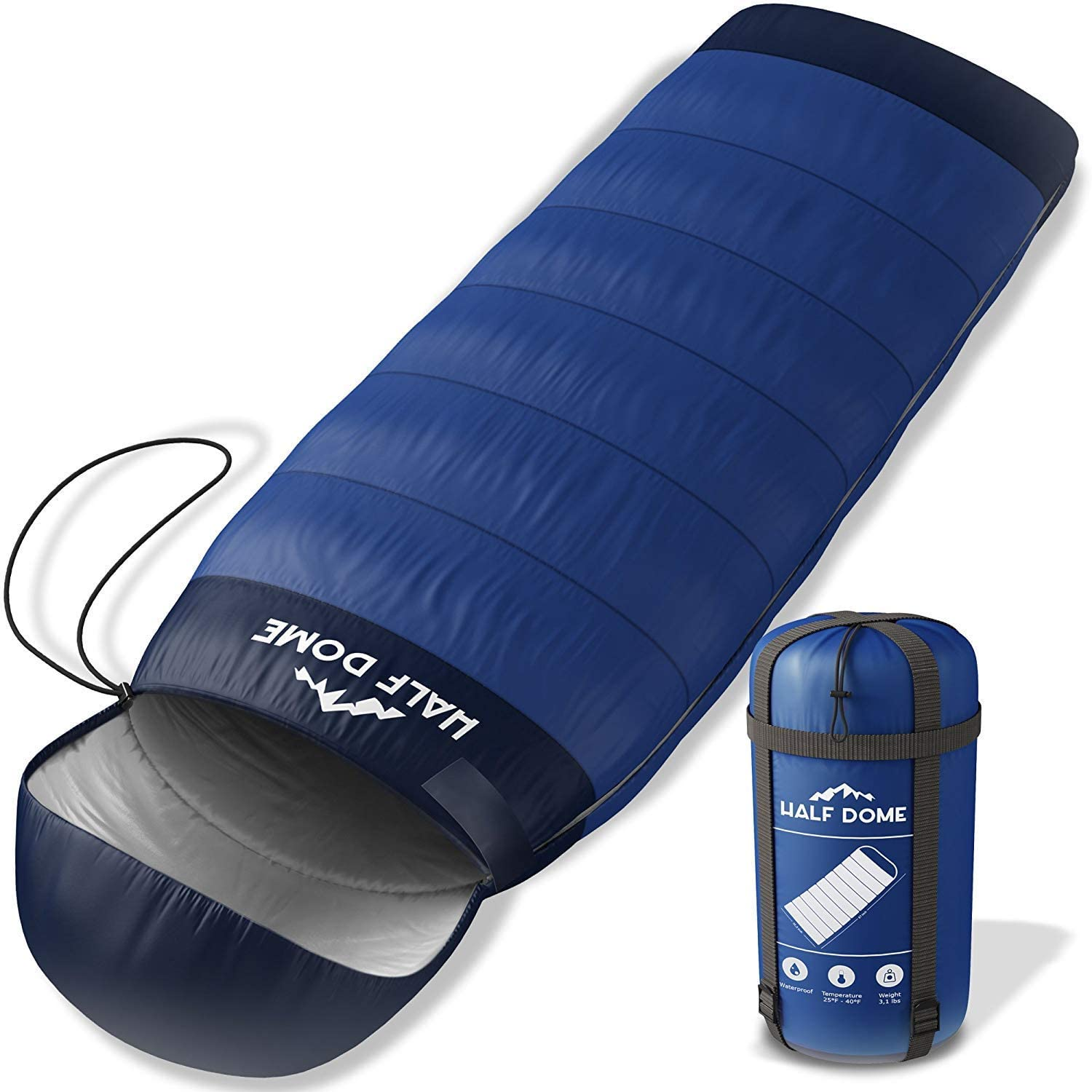 Half Dome Camping Sleeping Bag Set Women Men – Backpaking Outdoor Sleeping Option Ultralight Compact Sleeping Bag