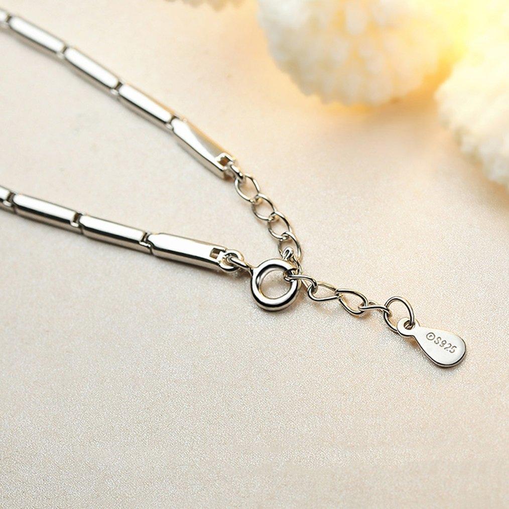 Cosmetici e gioielli LRW Regalo di compleanno della catena del polso di modo del braccialetto dellargento di Four Leaf Grass Pure