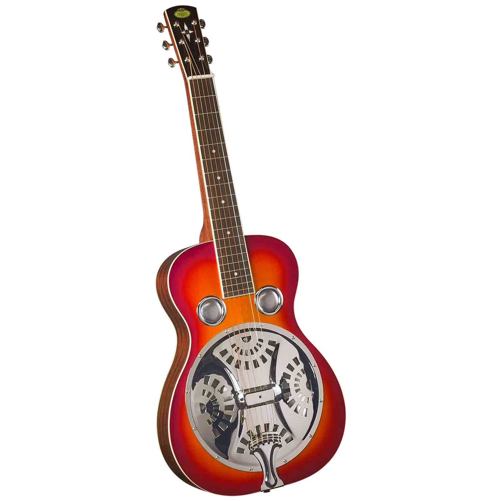 Regal RD-40CHS Studio Series Squareneck Resophonic Guitar - Cherry Sunburst by Regal Resophonic Guitars