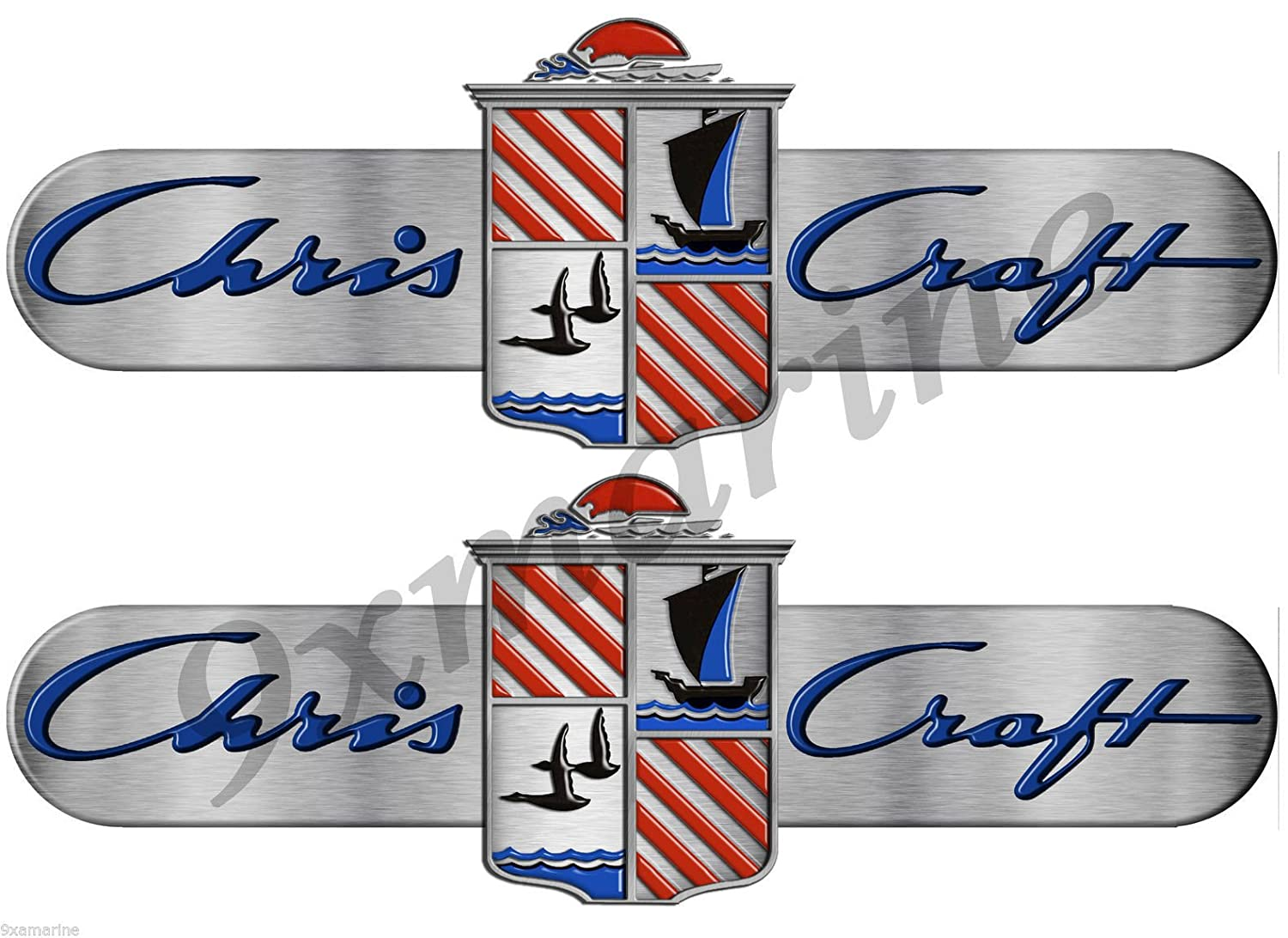 Amazon com chris craft custom decals stickers brushed metal look 10 long remastered automotive