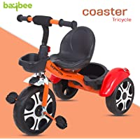 Baybee Coaster Baby Tricycle for Kids/Baby Trike with Storage Basket Suitable for Boys & Girls 1.5 to 5 Years ( Orange )