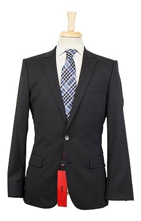 0b5ecd2d Amazon.com: Hugo Boss Red Label 'Amaro/Heise' Black Wool 2 Button ...