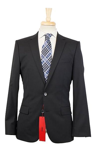 Amazon.com: Hugo Boss etiqueta roja Amaro/heise negro lana ...
