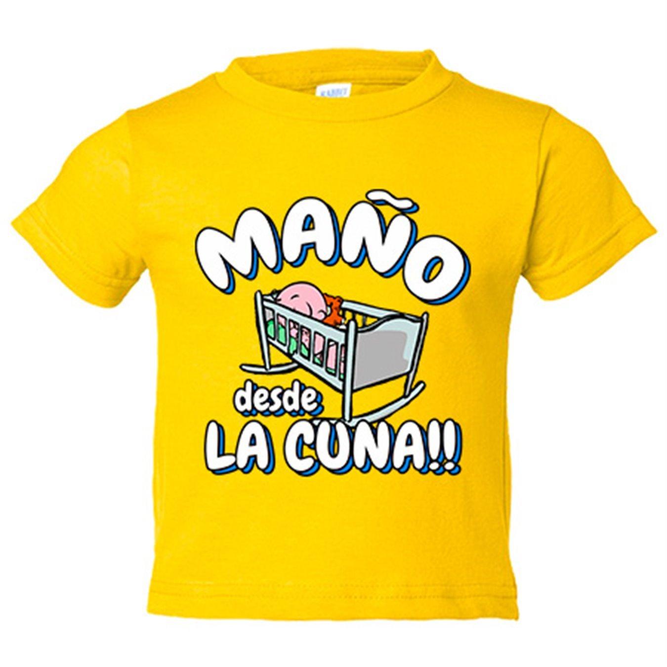 Camiseta niño Maño desde la cuna Zaragoza fútbol - Amarillo, 3-4 años: Amazon.es: Bebé