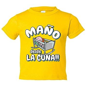 Camiseta niño Maño desde la cuna Zaragoza fútbol - Amarillo, 3-4 ...