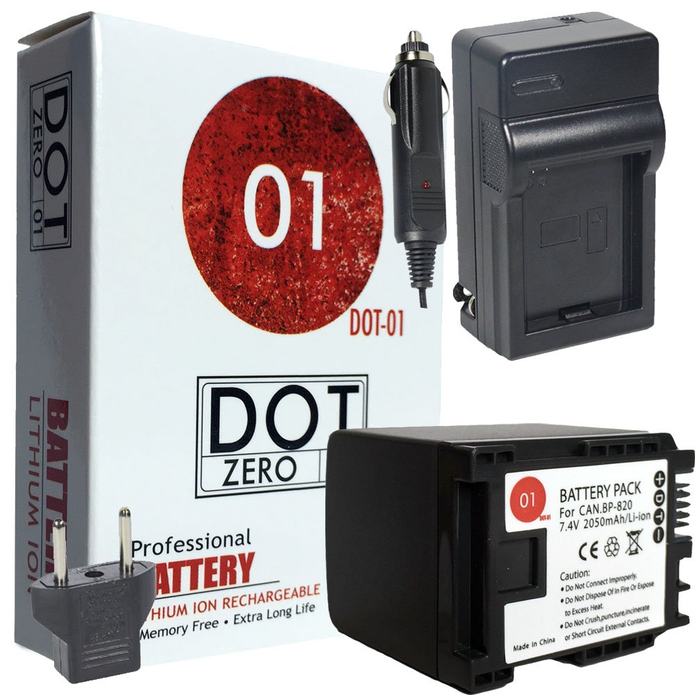 DOT-01 Brand Canon XA11 Battery and Charger for Canon XA11 Professional Camcorder and Canon XA11 Battery and Charger Bundle for Canon BP820 BP-820