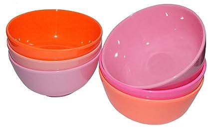 Rice – Cuenco para salsas melamina pequeño rosa y naranja Juego de 6