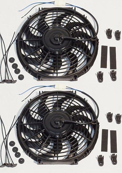 2 x 12 pulgadas Universal Slim ventilador Push Pull eléctrico ...