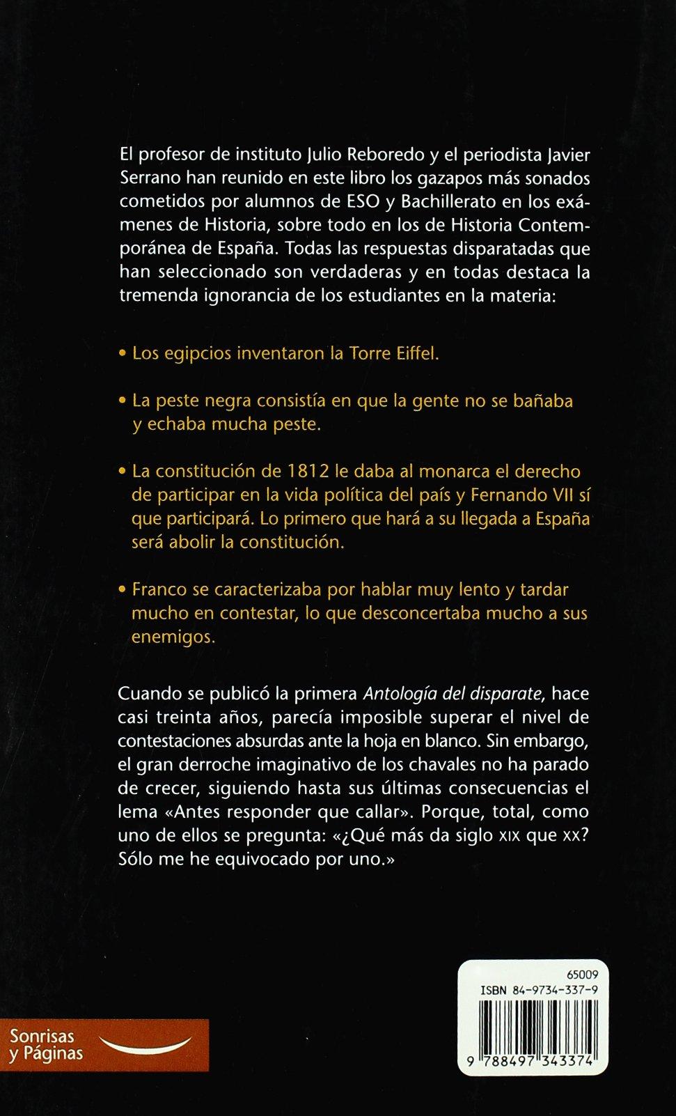 Historia de España contada por estudiantes: Amazon.es: Serrano Palacio, Javier, Reboredo Pazos, Julio: Libros