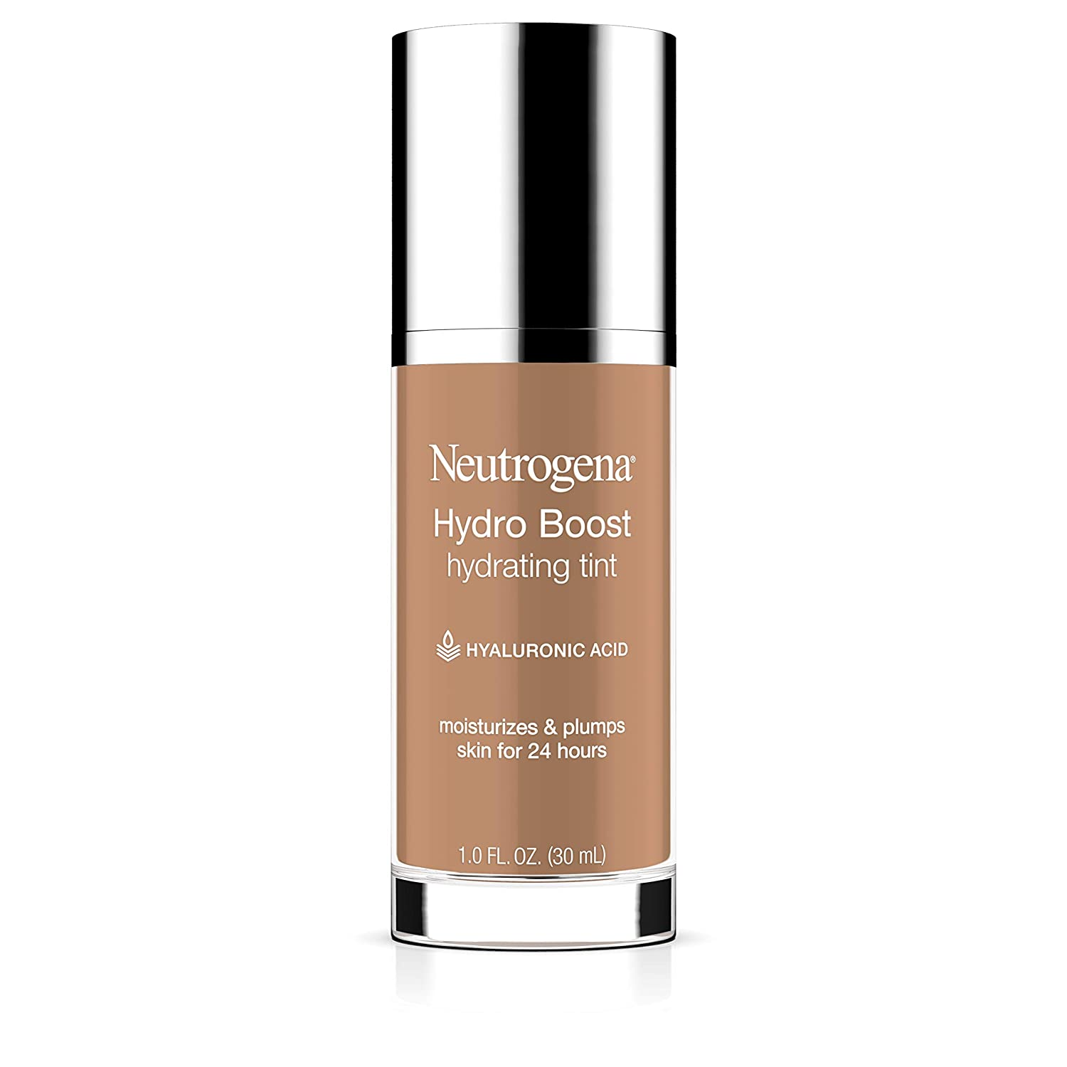 Neutrogena Hydro Boost Hydrating Tint with Hyaluronic Acid, Lightweight Water Gel Formula, Moisturizing, Oil-Free & Non-Comedogenic Liquid Foundation Makeup, 115 Cocoa Color 1.0 fl. oz