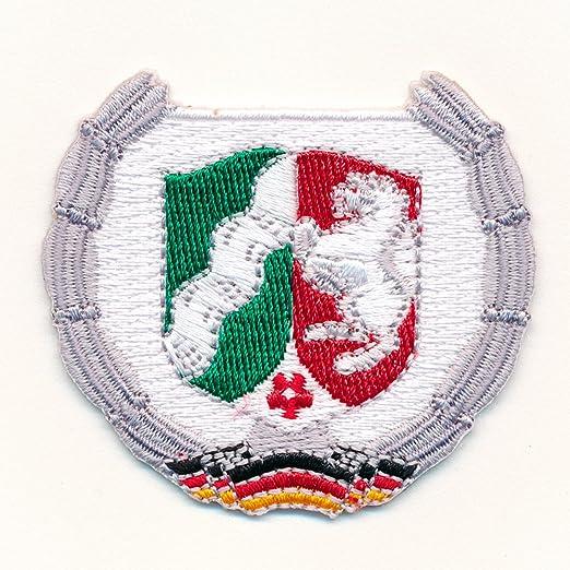 Nrw Wappen Dusseldorf Deutschland Flagge Brd Patch Aufnaher