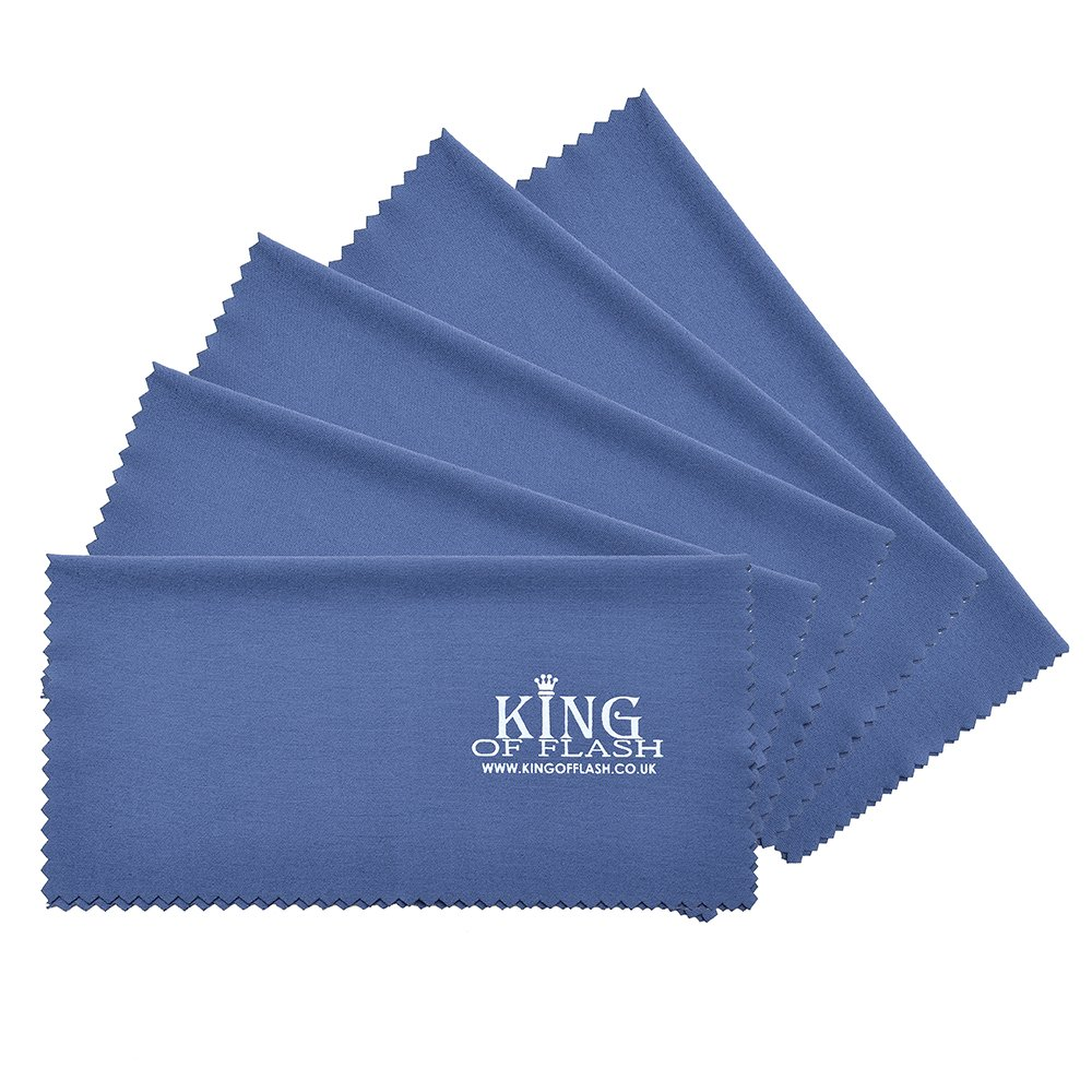 TV Tablets 10 Pack Cloth Screens Sunglasses King of Flash 10 x Blue Superfine Microfiber Cleaning Cloths For Mobile Phones Camera Lens Cleaners iPads Glasses