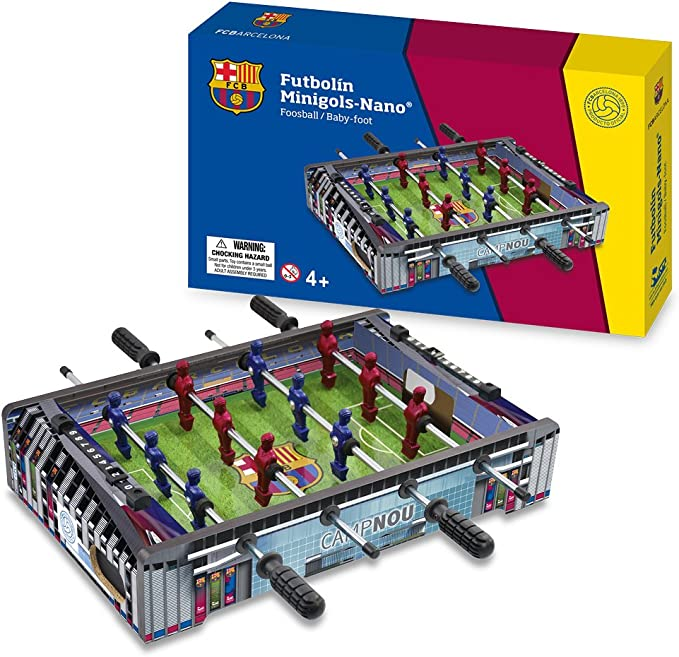 FCB FC Barcelona - Mini Futbolín Estadio Camp NOU, Multicolor (Proyectum Sport Team 10BAR-0000-1-2): Amazon.es: Juguetes y juegos