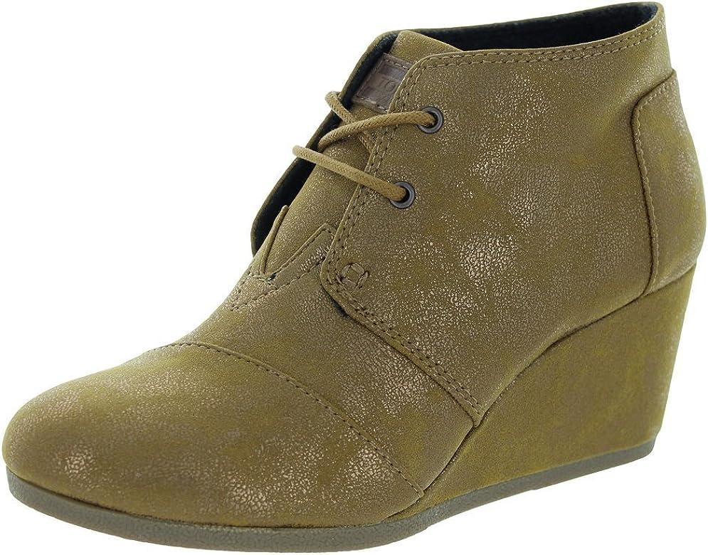 2862dfc925d Amazon.com | TOMS Women's Desert Wedge Gold Metallic Boot 9 Women US ...
