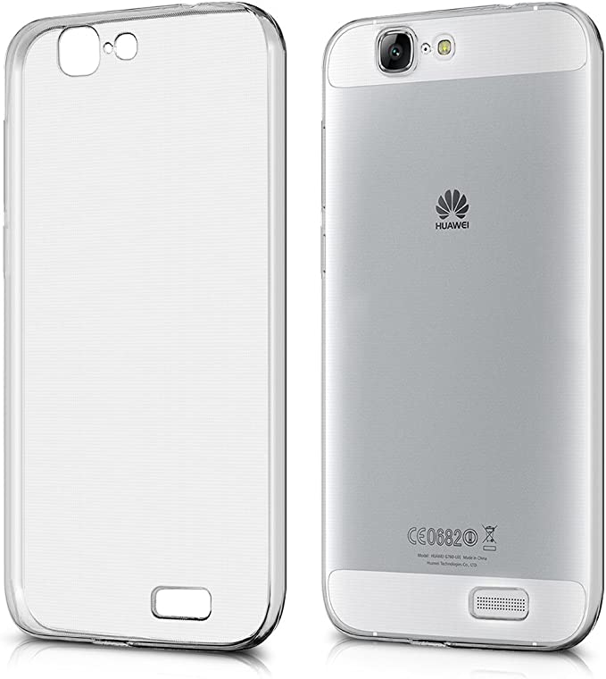 kwmobile Cover Compatibile con Huawei Ascend G7 - Custodia in Silicone TPU - Back Case Protezione Posteriore - Trasparente