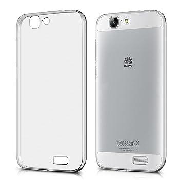 kwmobile Funda compatible con Huawei Ascend G7 - Carcasa de TPU para móvil - Cover trasero en transparente