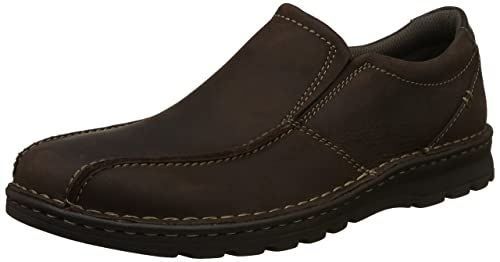 2b054c5cf19 Clarks Men s Vanek Step Dark Brown Lea Leather Moccasins-10 UK India (44.5