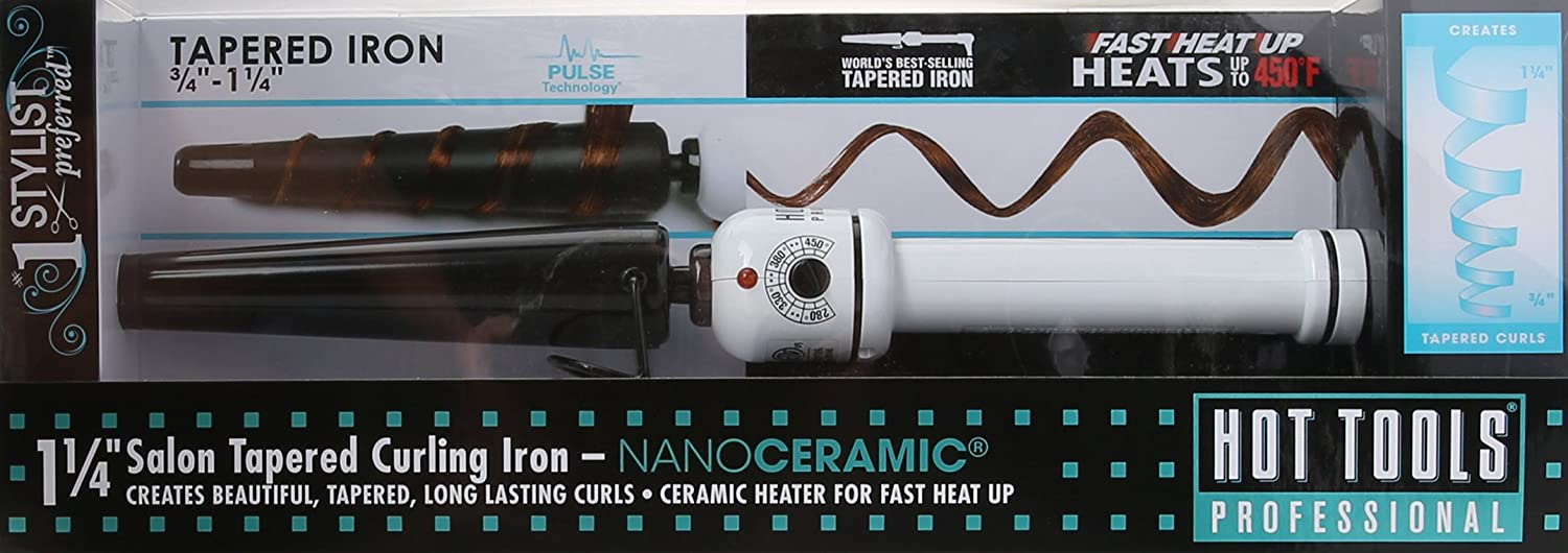 Hot Tools HTBW1852 Curly-Q Tapered Nanoceramic Curling Iron