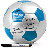 """Create-your-own Thumball Icebreaker Game - 6"""" Blue Team Builder Tool w/ Marker"""