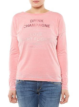 8603ad55 GUESS JEANS W62I24K4JU0 T-Shirt Long Sleeves Women Pink H412 M ...