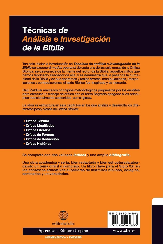 Técnicas De Análisis E Investigación De La Biblia Spanish