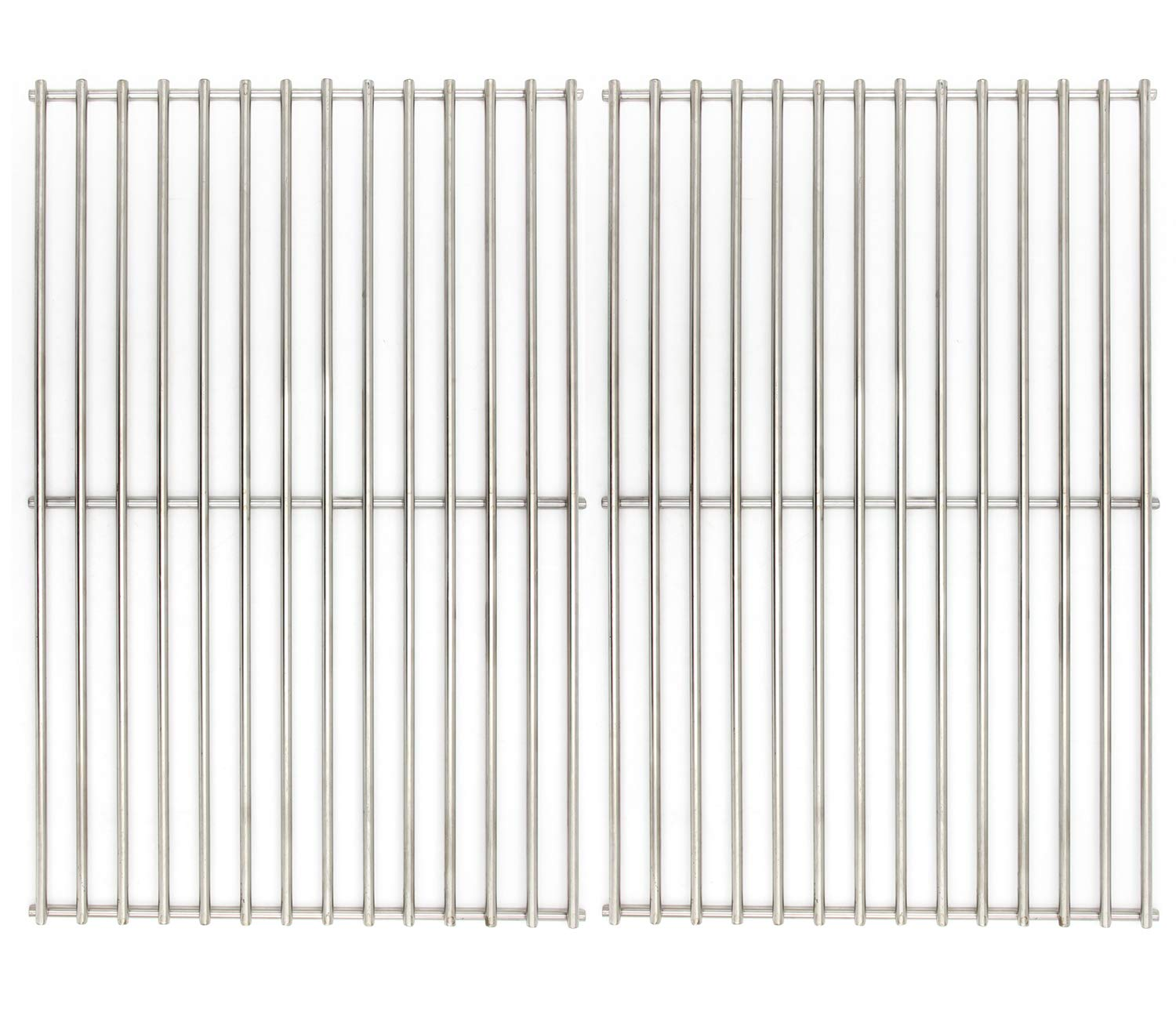 Hongso Grill Grates, Durable 304 Stainless Steel Solid Rod, 19 1/4 inch Cooking Grid Grates Replacement for Turbo, Charmglow Gas Grill (2 Pieces, SCS612) by Hongso