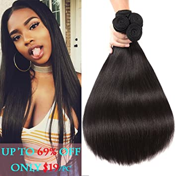 Magic Show 10a Natural Black Peruvian Virgin Hair Straight 4pcs Lot 16 18 20 22 Peruvian