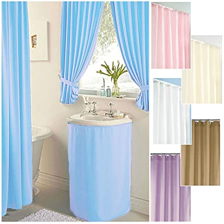 Merveilleux SINK SKIRT BABY BLUE WASHABLE SINK CURTAIN BATHROOM COVER SINK SURROUND  BATHROOM STORAGE