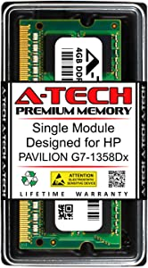 A-Tech 4GB RAM for HP Pavilion G7-1358DX   DDR3 1600MHz SODIMM PC3-12800 204-Pin Non-ECC Memory Upgrade Module