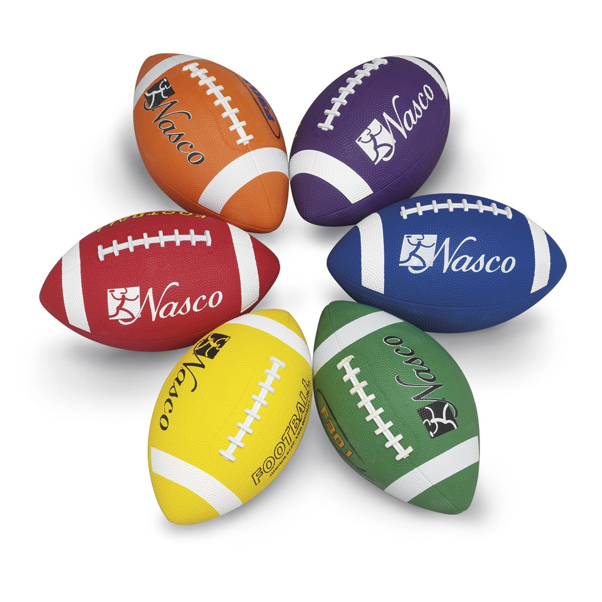 MAC-T Junior Size 3 Footballs - 6 - Colour Set B01NCJ0RNI