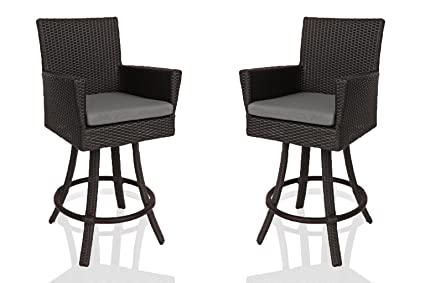 Surprising Amazon Com Patio Bar Stools With Back All Weather Pdpeps Interior Chair Design Pdpepsorg