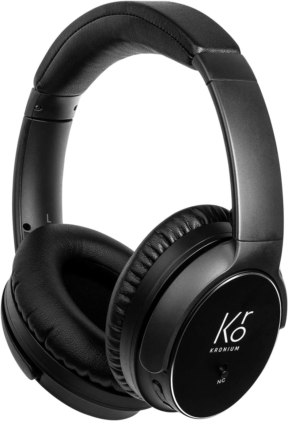 KRONIUM Active Noise Cancelling Headphones Wireless Bluetooth Headset Superior Deep Bass Foldble Over Ear Headphones with Mic for Travel Work TV PC Cellphone-with 3.5mm Audio Jack