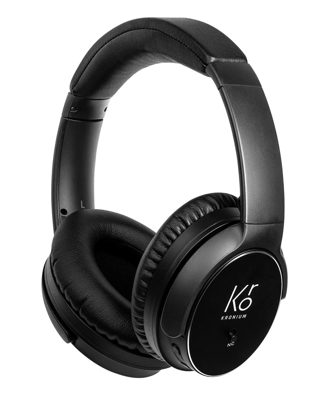 Auriculares Kronium Cancelacion De Ruido Activa Inalambrico Bluetooth Headset Superior Deep Bass Foldble Over-ear Con Mi