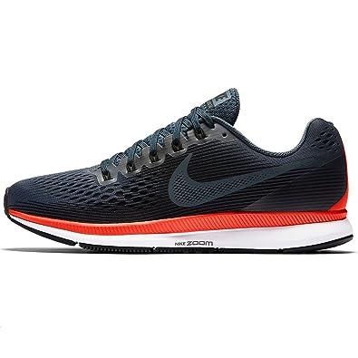 best sneakers 15059 a7ac5 Nike Zoom Pegasus 34 Chaussures de Running Compétition Homme, Gris (Blue  Fox Black