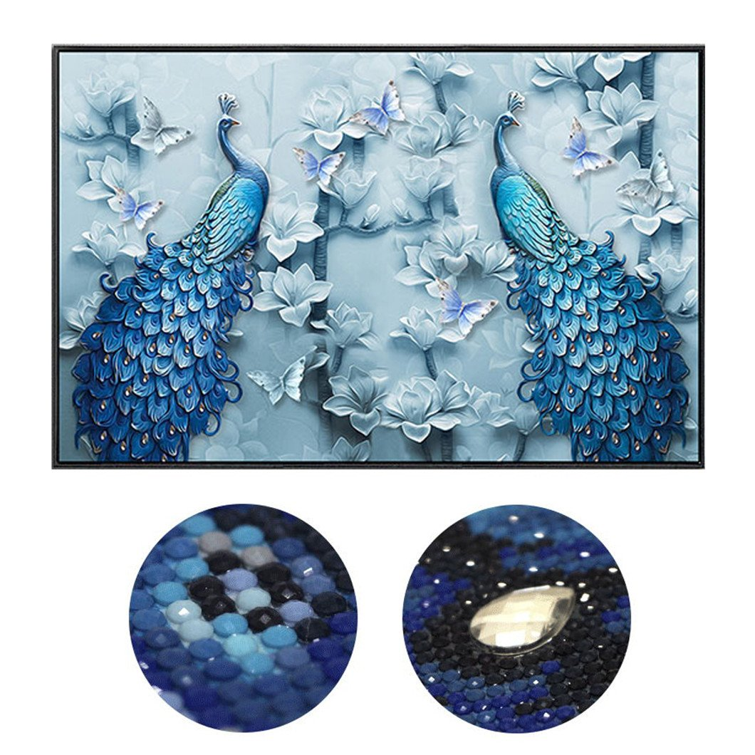 Mazixun Special Shaped ''Peacock Lovers''DIY Diamond Painting Diamond Embroidery Full Diamond Mosaic Bead Picture Home Decor