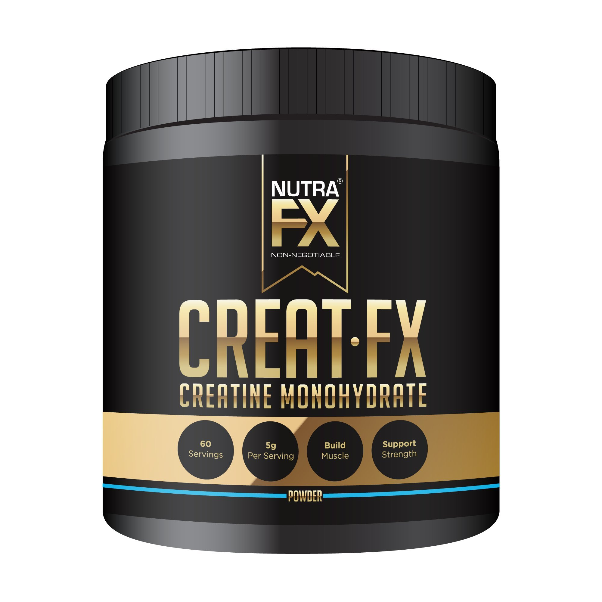 NutraFX Micronized Creatine Monohydrate Powder - With High-Tech Shaker Bottle - All Natural Pre Workout Energy Boost and Muscle Building Supplements (300g - 60 Servings)