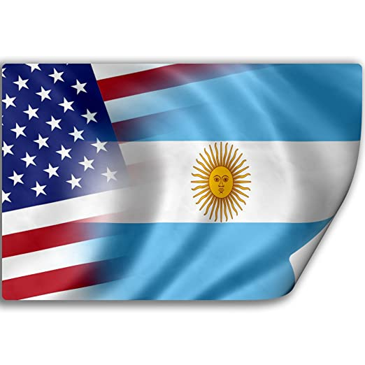 Amazon com sticker decal with flag of argentina and usa argentine argentinean argentinian kitchen dining