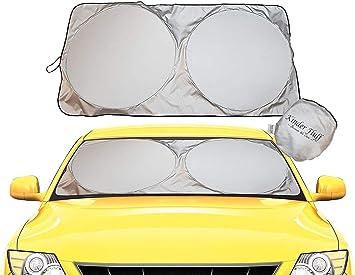 Windscreen Sun shade KMMIN Car Sun Protector 98/% Anti-UV 1 Front 2 Side 160x89CM + 2x50x30CM