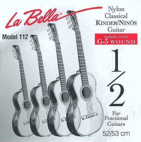 Labella FG178 - Juego de cuerdas para guitarra clásica (62 cm ...