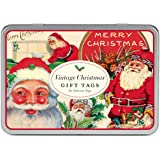 Cavallini Glitter Gift Tags Vintage Christmas, 36 Assorted Gift Tags