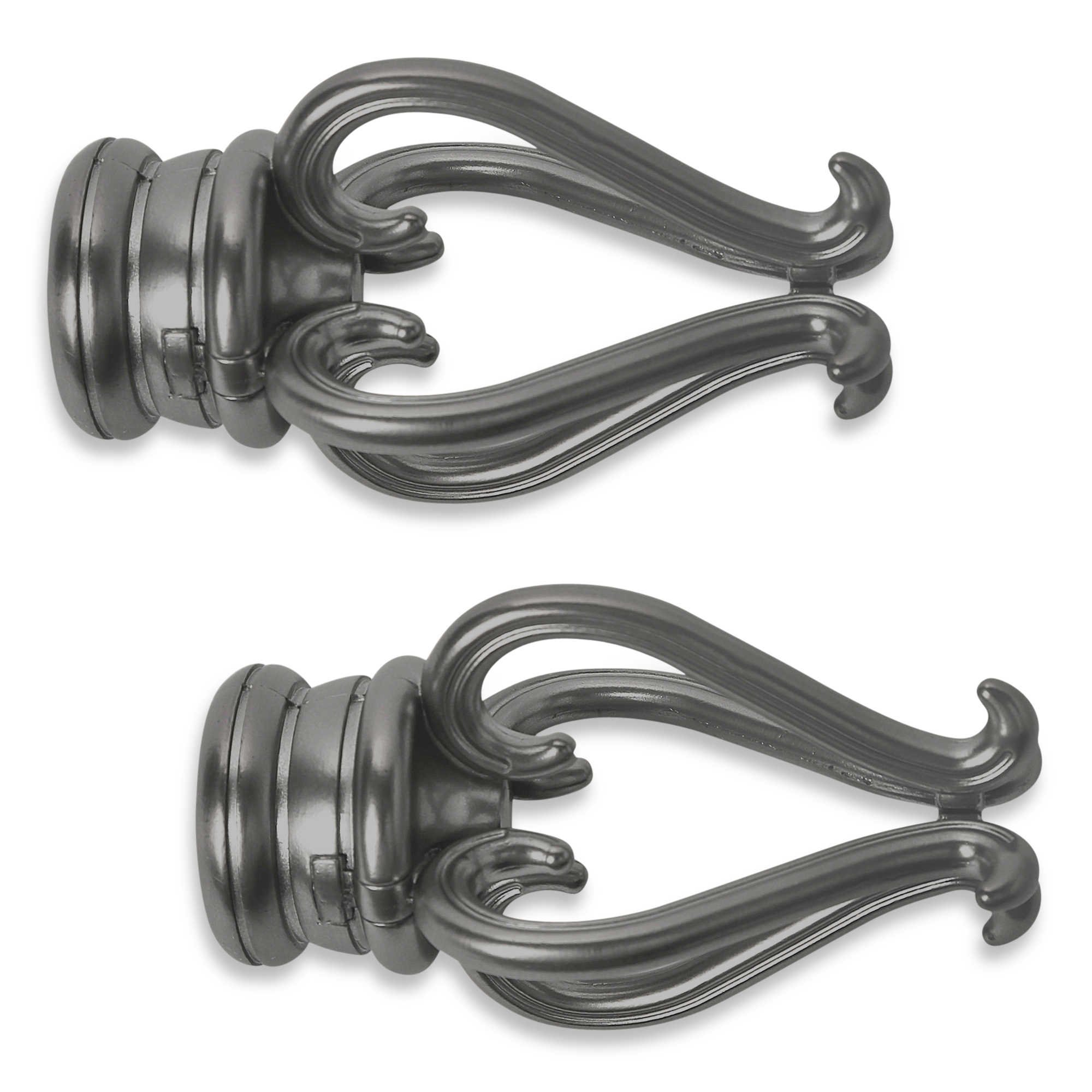 Cambria Premier Complete Finial in Graphite (Set of 2) (FLORENTINE)