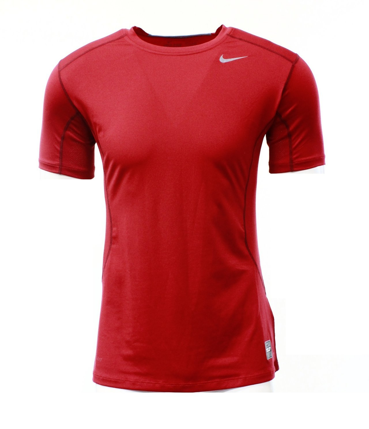 Nike Mens Core Fitted Short Sleeve Top 2.0 - Medium - Gym Red 449787