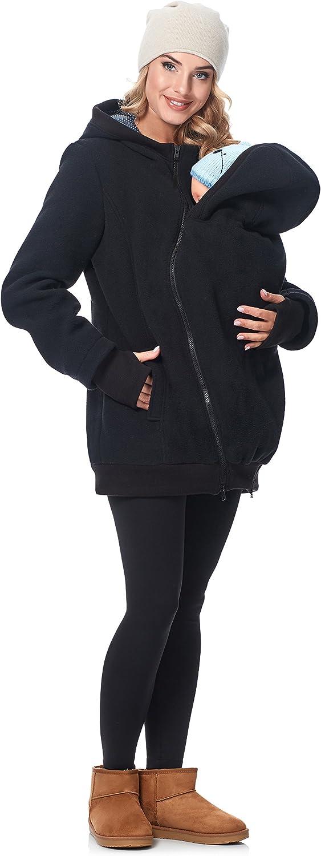 Be Mammy Damen Fleece Übergangsjacke Umstandsjacke BE20 181