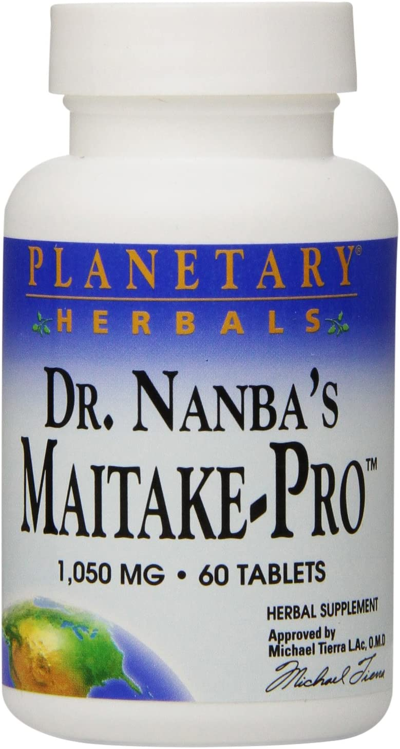 Planetary Herbals Dr. Nanba s Maitake-PRO Tablets, 60 Count