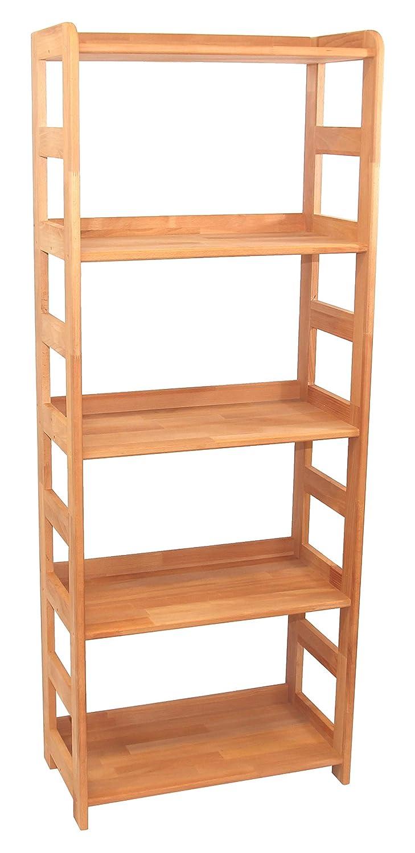 Praktisches Regal Beethoven, 168x65x33cm, Echtholz Buche geölt, für Wohnzimmer, Büro oder Kinderzimmer, Echtes Holz