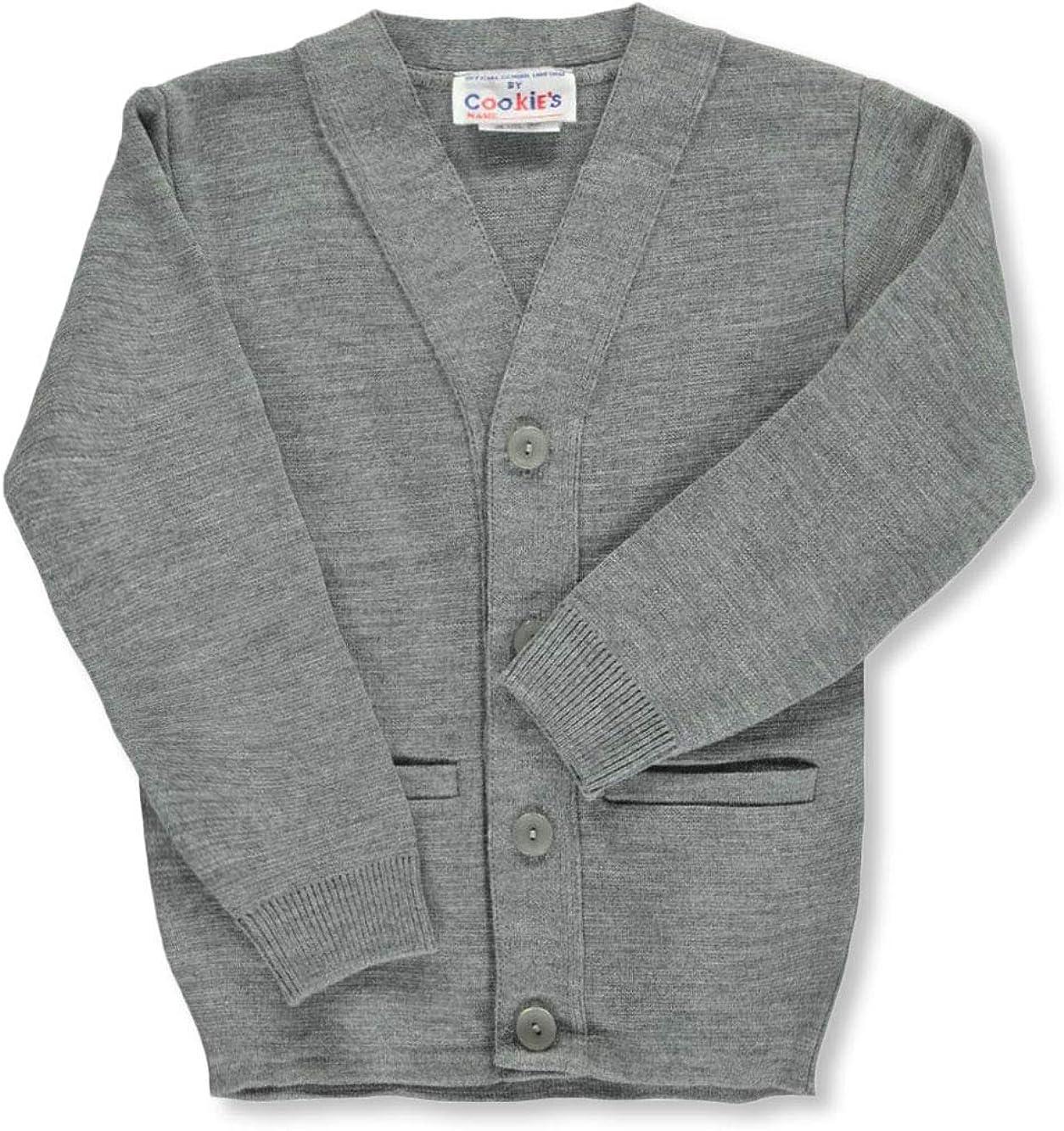 Gray 8 Cookies Brand Big Boys Cardigan Sweater