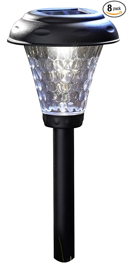 Moonrays 91381 Payton Solar Led Plastic Path Light 2x Brighter 8