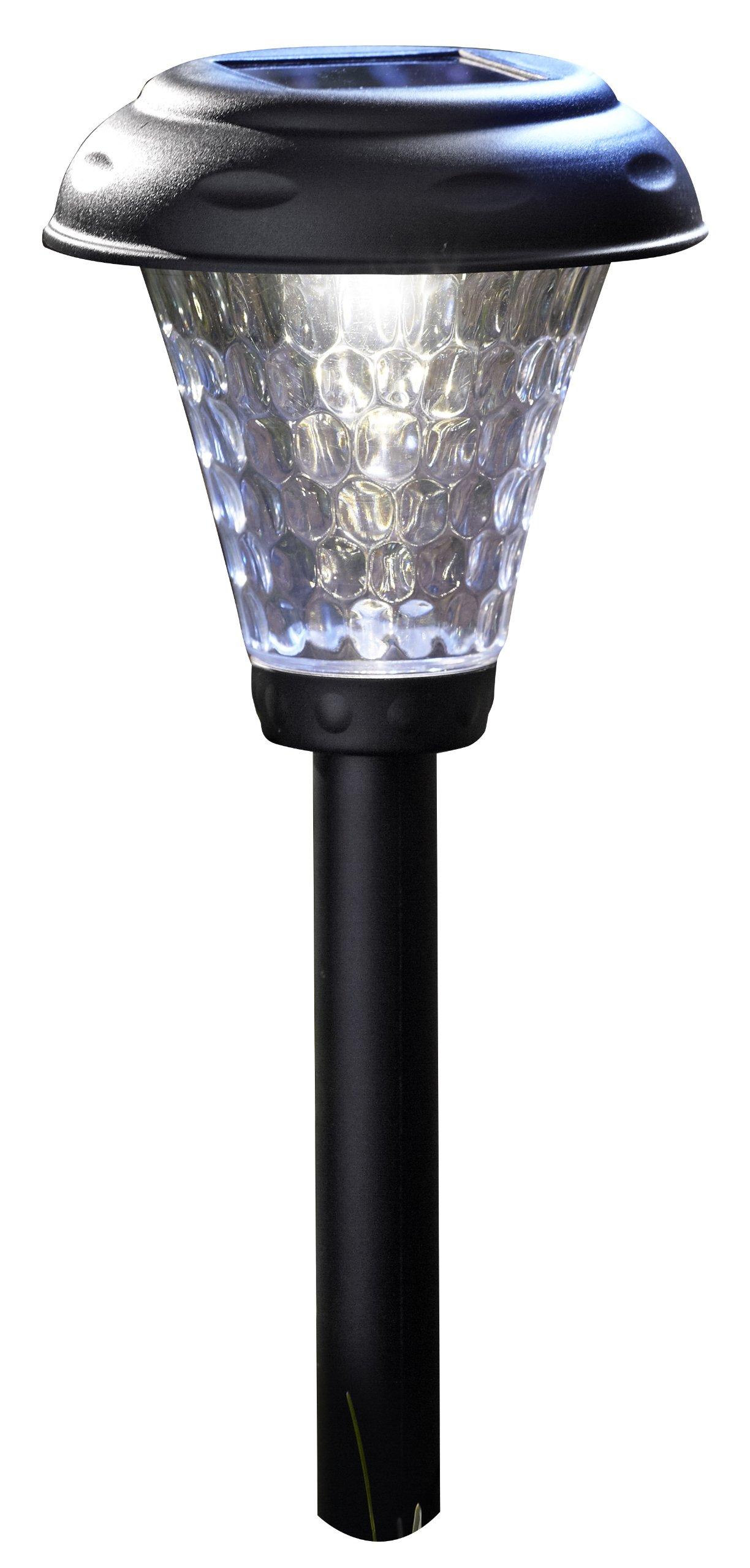 Moonrays 91381 Payton Solar LED Plastic Path Light, 2X-Brighter, 8-Pack